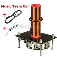 1x Tesla Coil Music Audio Cord Plasma Wireless Transmission Experiment DIY New