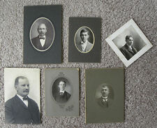 SET OF 10 PHOTOS PORTRAITS MEN FROM PGH, PA + STUBENVILLE, OH AREA