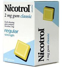 Nicotrol Nicotine Gum 2mg Classic 2625 pieces 25 boxes fresh