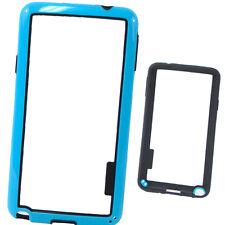 Pellicola+BUMPER custodia Nero AZZURRO per Samsung Galaxy Note 3 Neo N750 cover