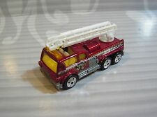 MATCHBOX  loose  = LADDER FIRE TRUCK = BURGANDY
