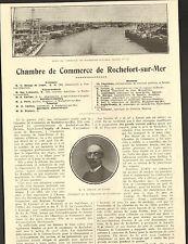 17 ROCHEFORT CHAMBRE DE COMMERCE ARTICLE PRESSE DELAGE DE LUGET BACHELAR 1925