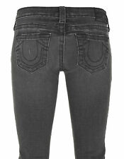 NWT TRUE RELIGION JEANS WOMEN Sz28 HOLLY CROPPED SKINNY-STRETCH REBEL MED $205.