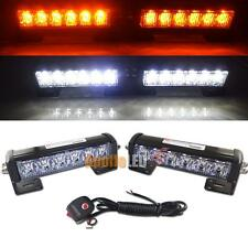 2pcs Switchback Dual Color 6-LED Bumper Strobe Lightbar Set For Car Truck SUV