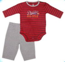 "Carter's 2-pc Bodysuit & Pull-On Pants Set – """"Daddy's Future All-Star"", 9 mos"