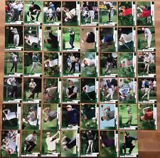 "2002 Upper Deck Golf 47 Base ""Green"" Card Set Tiger Woods Phil Mickelson Rookie"