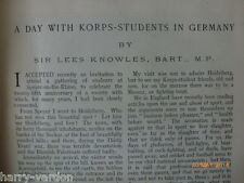 Korps Students Germany Military Duel Duelling Rare Antique Photo Article 1905