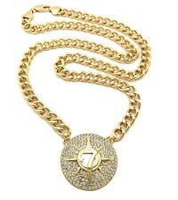 """NEW ICED OUT ALLAH PENDANT WITH 10mm 30"""" CUBAN LINK CHAIN."""