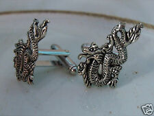 Men's DRAGON Suit Shirt Cufflinks Wedding Grooms Gift Medieval Gothic Chinese