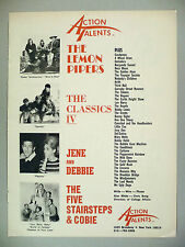 Lemon Pipers / Classics IV / Jene & Debbie / Five Stairsteps PRINT AD - 1968