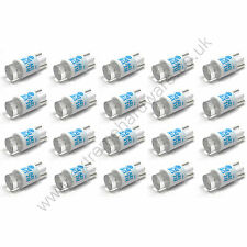 20 x Blue 12v 10mm T10 Wedge Base LED Bulbs for Arcade Push Buttons - MAME