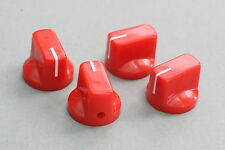 Knobs Rojo 19x15 mm. Fit 6.35 Potes Effect Pedal Poti Knöpfe Boutons Red