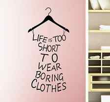 Hanger Bedroom Quote Wall Sticker Art Vinyl Decal Dressing Room Home Decor DIY