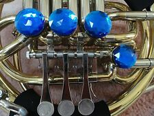 DOUBLE FRENCH HORN BLUE SAPPHIRE DECORATOR ROTOR CAPS/TONE BOOSTERS, 4 PC. SET