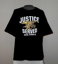 "NEW ""JUSTICE SERVED"" SEAL TEAM VI  T-SHIRT 2XL - XXL  *L@@K*  SEAL TEAM 6  NWOT"