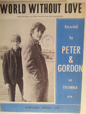 song sheet WORLD WITHOUT LOVE Peter + Gordon 1964 Lennon McCartney