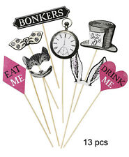 13PC TRULY ALICE MAD AS A HATTER PHOTO PROPS Alice In Wonderland Party Props