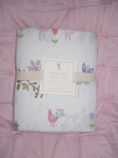 NEW Pottery Barn Kids Brannan Flower Lavender Bird FULL Sheet Set RARE FIND!
