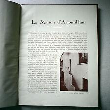 Jean-Charles Moreux, La maison d'aujourd'hui, architecture moderniste, Corbusier