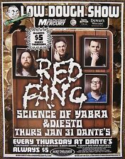 RED FANG 2008 Gig POSTER Portland Oregon Concert