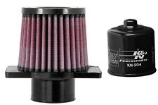 K&N Motorcycle Air Filter + Oil Filter Combo HA-5013 + KN-204