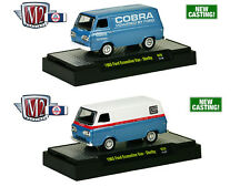 1965 FORD ECONOLINE VANS SET OF 2 SHELBY W/CASES 1/64 M2 MACHINES 32600-29S
