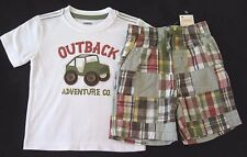 NEW Gymboree 12-18 M Boys Outback Adventure Jeep Tee Patchwork Shorts RV $47