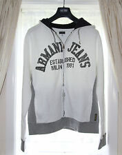 *BNWT* - Armani Jeans Men's Hoodie / Zip Top - XL - White