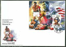 TOGO  50th ANNIVERSARY OF  MUHAMMAD ALI WORLD TITLE  S/SHEET FIRST DAY COVER