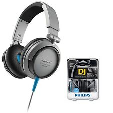 Philips SHL3200 Headphones  DJ monitor style High impact bass Grey /GENUINE