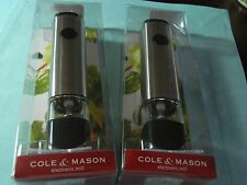 2X Cole & Mason Electronic Mill Salt Pepper Gourmet mill Best Father's Day Gift