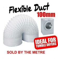 "4"" 100mm Flexible Vent Pipe Tumble Dryer Drier Fan Extractor Vent Ducting Tube"