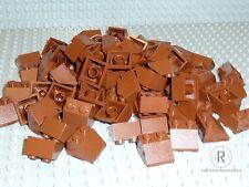 LEGO® 100 Ziegel Dachsteine braun reddish 45° 2x2 Neu 3039 City Eisenbahn Burg
