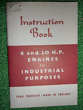 FORD FORDSON 8HP & 10HP INDUSTRIAL ENGINE OWNERS USERS HANDBOOK MANUAL 1952
