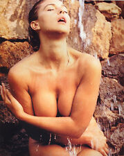 Monica Bellucci 8X10 sexy nude just covered bu her hands in waterfall