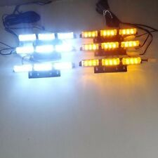 9X 6 Bars White LED Amber Car Flashing Emergency Grille Recovery Strobe Light UK