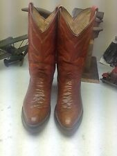VINTAGE CUSTOM COGNAC RUST DISTRESSED ALIGATOR ENGINEER LEATHER BOSS BOOT 8-27M