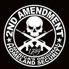 Pop 2ND AMENDMENT GUN vinyl decal sticker Truck Diesel car hunting Auto Decor CN