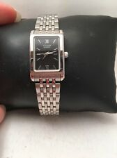 Citizen Quartz Ladies Rectangular Blk Dial Stainless Steel Watch EJ5850-57E-H79