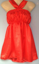 Red satin dress adult baby fancy dress sissy french maid valentine fits 36-46
