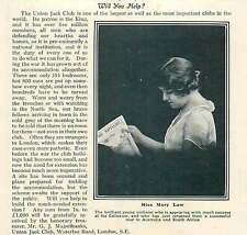 WW1 Brilliant Violinist Miss Mary Law Union Jack Club Waterloo Road