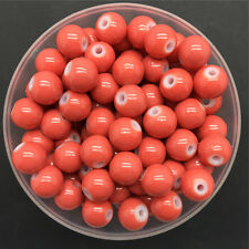 Wholesale 4mm 100 PCS Orange Glass Round Pearl Spacer Loose Beads Jewelry Making