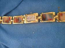 Vintage BEAUTIFUL BOCA CLASSIC Gold w/ Hologram Picture Band Watch ......#7053
