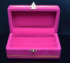 Pink Big Velvet Ring Box Jewelry Flock Jewelry Box ,For Gift, Made in Thailand