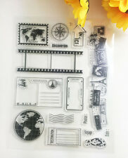 HOT 1 Sheet Silicone Transparent Stamp Seal Stamp-pattern Scrapbooking Album~@@