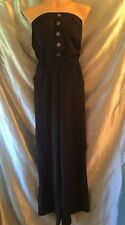 NWOT Walter Baker $108 Palazzo Strapless Jumpsuit, Size M