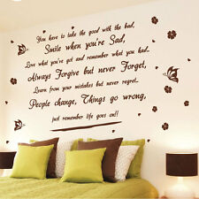 Life goes on Wall Art Quotes Wall Stickers Wall Decals Wall Mural---Size 3 212