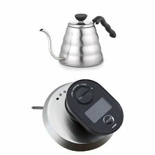 Hario Set V60 Buono Coffee Drip Kettle VKB-120HSV VTM-1B Thermometer from JAPAN