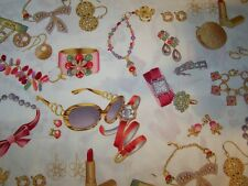 LINED VALANCE 42X14 HOLLYWOOD BLING JEWELRY WATCH DIAMONDS SUN GLASSES EARRINGS