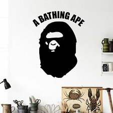 Bathing Ape Wall Decal Stickers Decor Modern Easy Sticker Vinyl Decal Size Small